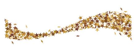 Christmas star tail made of golden stars Ilustração