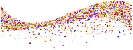 Wave made of confetti.