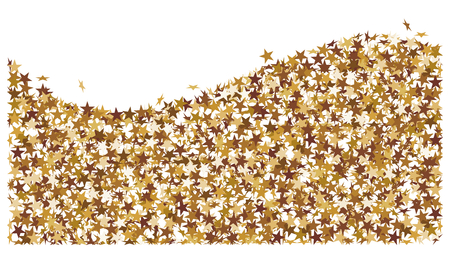 Wave made of golden stars
