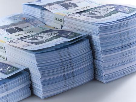 Saudi Riyal Banknotes Stock Photo