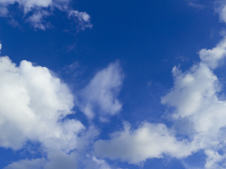 Cloudy Blue Sky in summer, Warsaw, Poland