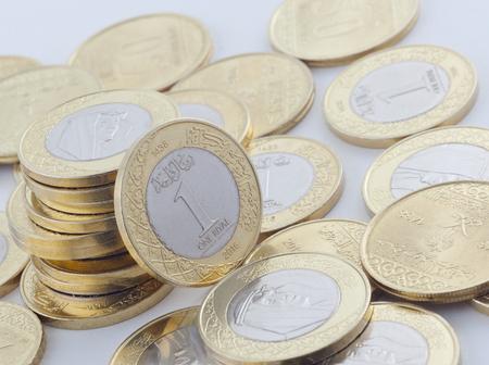 New Saudi Riyal and Halalas Coins showing King Salman of Saudi Arabia