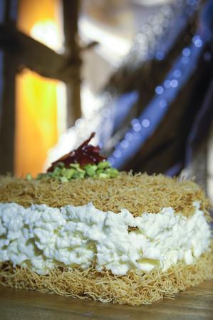 Osmaliya, Arabic Sweets with Cream for Ramadan and Eid Stock Photo