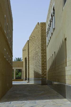 Passage Between Buldings at King Abdul Aziz Historical Center in Riyadh, Saudi Arabia