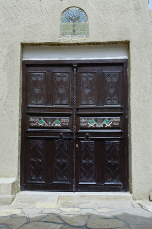 Bulding Door at King Abdul Aziz Historical Center in Riyadh, Saudi Arabia Stok Fotoğraf
