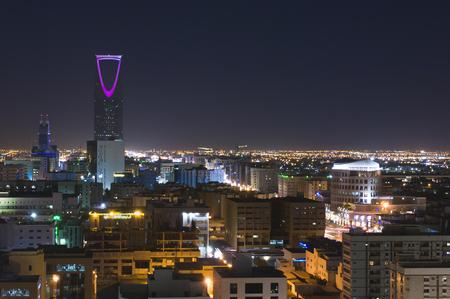 Riyadh Skyline Night Top View