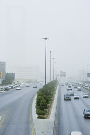 Sand Storm Dramatically Reduces Visibility on King Fahad Road in Riyadh City, Saudi Arabia, 05-02-2006 Sajtókép