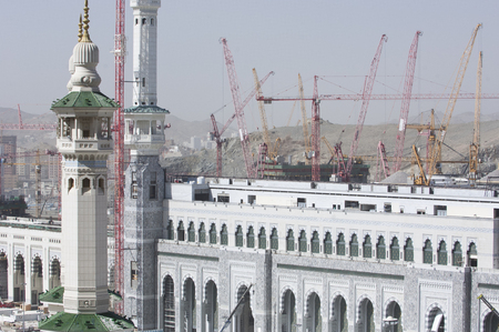 Construction of Al-Masjid Al-Haram Around Al Kaaba in Mecca, Saudi Arabia