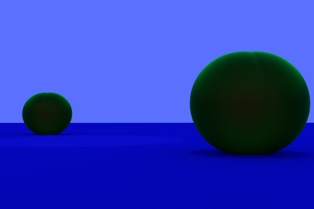 3D rendering of green spheres Фото со стока