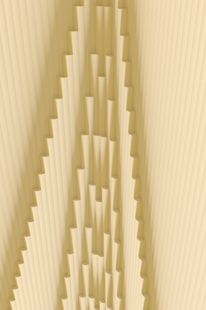 3d illustration of a structure of hundreds of columns Stock Photo