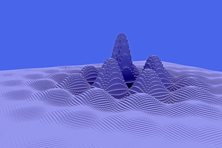 3d illustration of a mountainous landscape