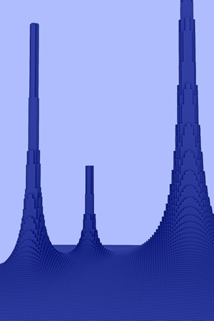 3d illustration of a mountainous landscape