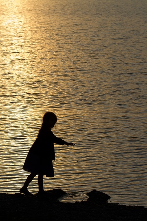 wasser: Silhouette Stock Photo