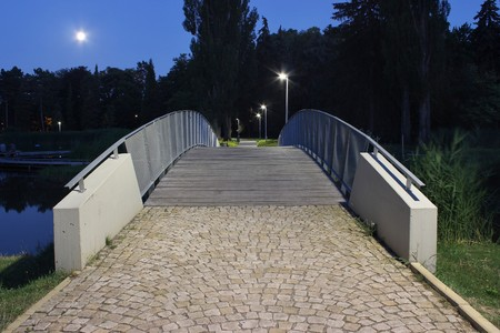 Footbridge: Footbridge in Hradec Kralove