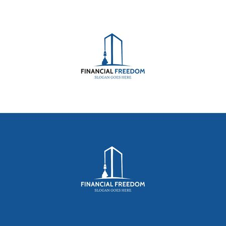 Financial freedom logo for your best company Illustration