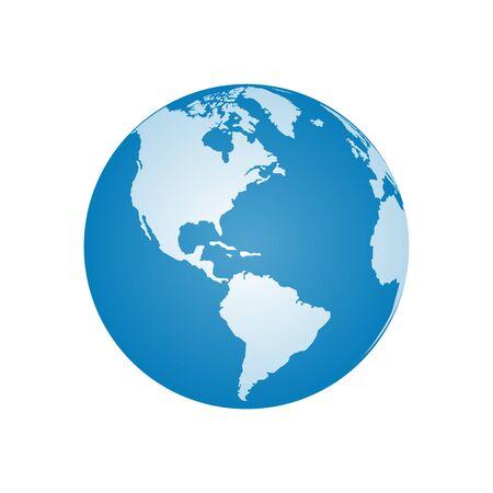 Realistic Earth Vector for Illustration Ilustracje wektorowe