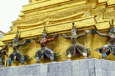 gold: Temple Thailand Wat Phra Keew Stock Photo