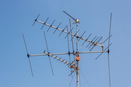 tv antenna: TV antenna in Bangkok, Thailand Stock Photo