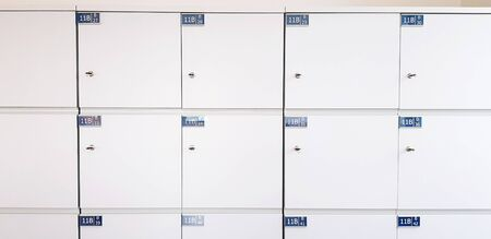 White locker or cabinet for keeping stuff or private thing and your belonging for background