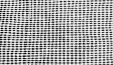 Black and white Plaid cotton or fabric for background. Seamless pattern wallpaper and line concept