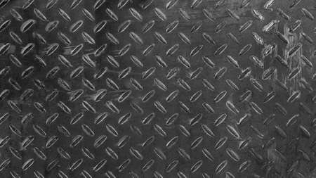 Stainless steel background Seamless pattern of rust iron wall or wallpaper in black and white tone or monochrome. Textured or grunge panel and Hard material concept.