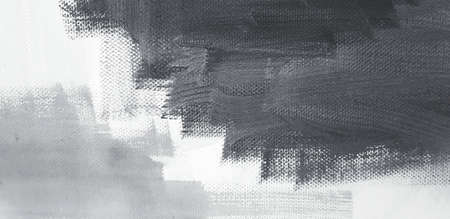 Black and white abstract painting on canvas paper for background in watercolor style. Painting, Drawing and Art wallpaper concept.