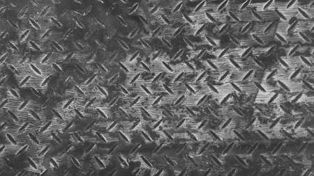 Rusty stainless steel background Seamless pattern of rust iron wall or wallpaper in black and white tone or monochrome. Textured or grunge panel and Hard material concept.