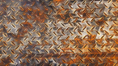 Rusty stainless steel background Seamless pattern of rust iron wall or wallpaper. Textured or grunge panel and Hard material concept.