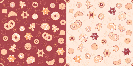 confectionary: Seamless patterns of confectionary items