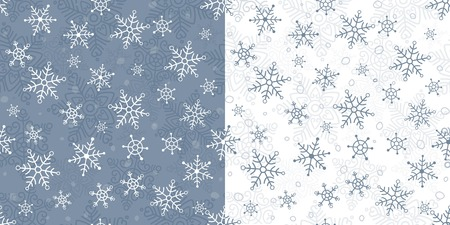 elebration: Seamless pattern with snowflakes