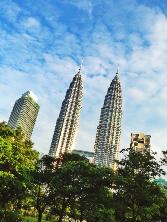 petronas: Petronas Twin Towers Foto de archivo