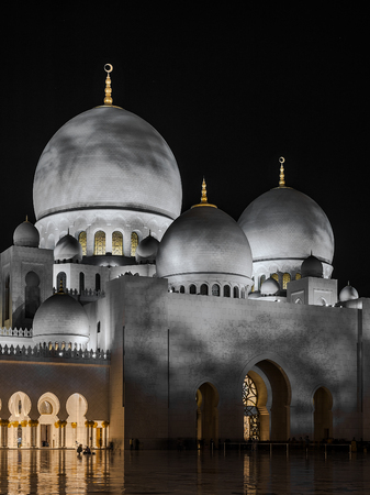 domes: Domes of Grand Mosque in Abu Dhabi