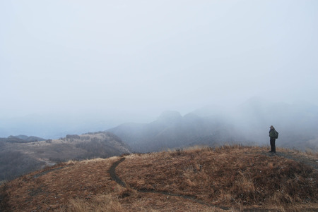 great wall: Great wall of fog