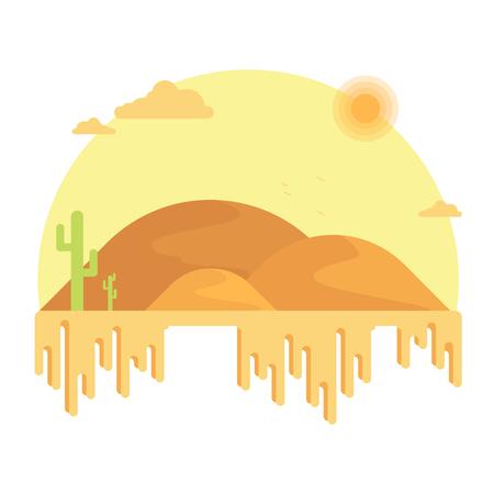 Cacti grow among the dunes.