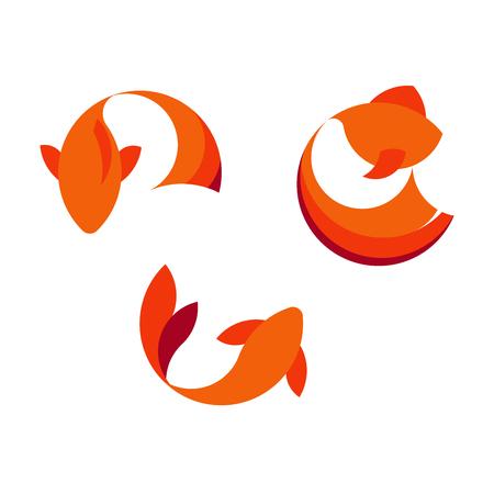 Fish logo template. Creative vector symbol of fishing club or online shop. Illustration