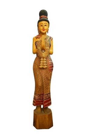 indian artifacts: wooden  sculpture