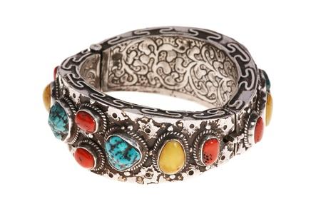 carbuncle: silver bracelet