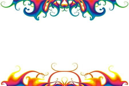 rainbow cocktail: Psuchedelic Liquid Background Illustration