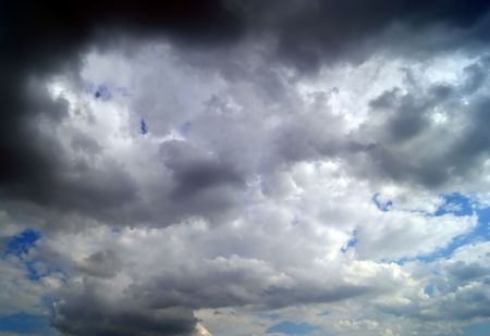foreshadowing: Heavy clouds in the sky before storm Stock Photo