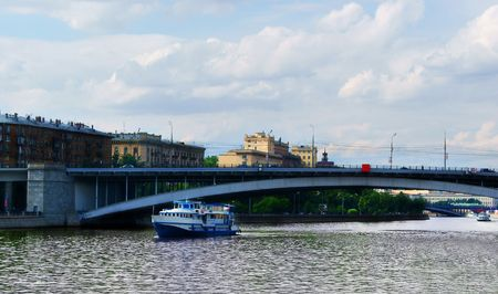 Passenger Ship on the Moscow River