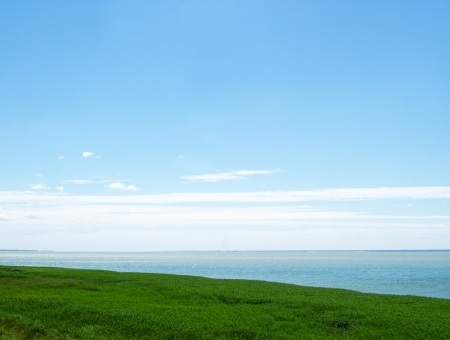Sea landscape, light blue lagoon