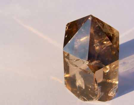 A Smoky Quartz Crystal from Hallelujah Junction, NV, USA