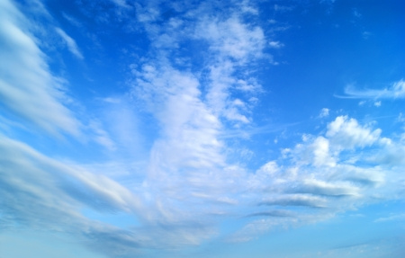 foreshadowing: White fluffy clouds in clear blue sky