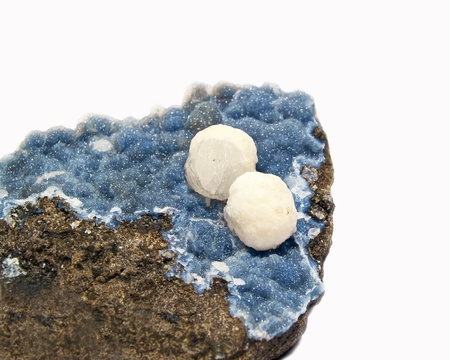 Gyrolite balls on chalcedony matrix from Maharashtra nasik, India Stock Photo - 19058666