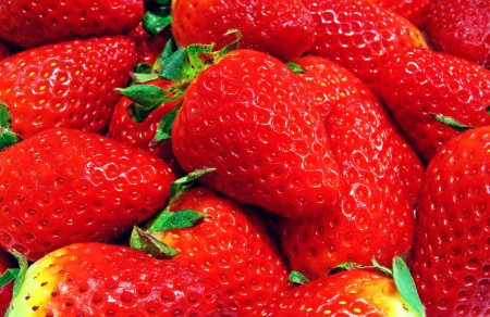 Juicy tasty and sweet red strawberry background