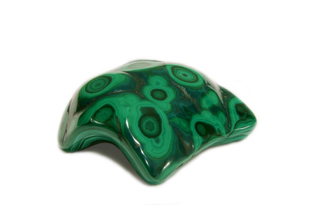 Polished botryoidal Chrysocolla Malachite display specimen, green african stone Stock Photo