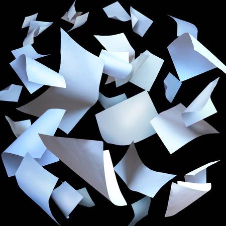 papeles oficina: Volar hojas de papel páginas vuelan