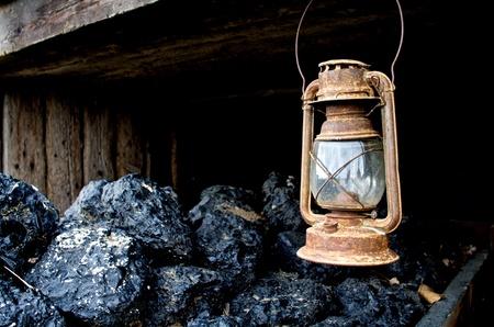 Lantern and coal Stok Fotoğraf