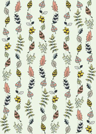 fall leaf: seamless leaves pattern Illustration