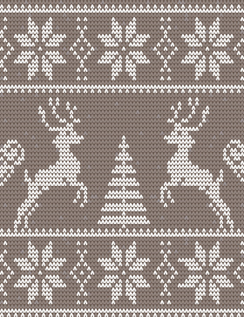 spruce thread: Christmas and Happy New Year ornament - Sweater with deers